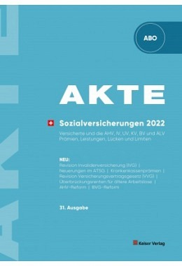 AKTE Sozialversicherungen 2022 (Abo)